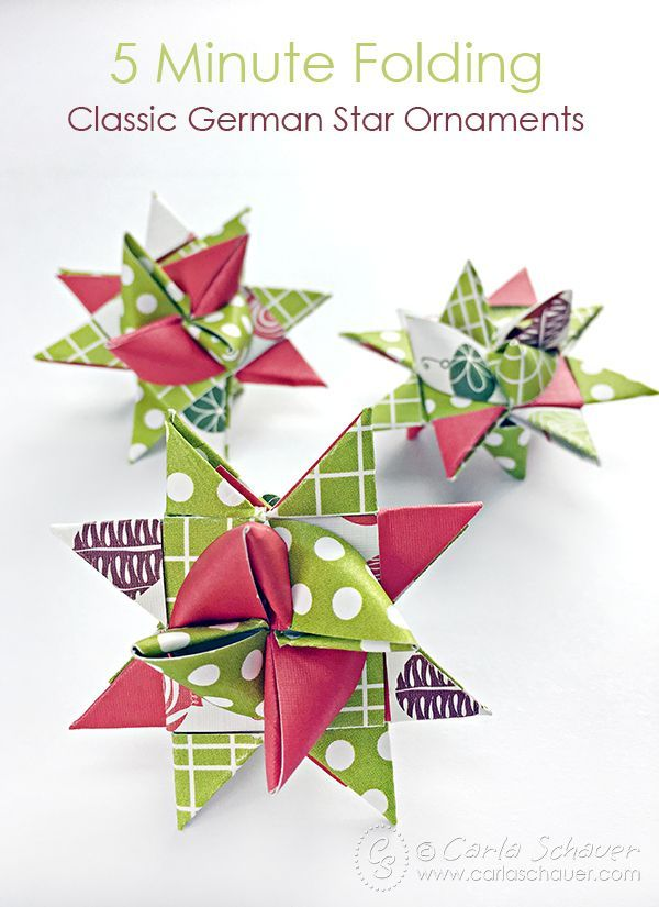 Beautiful German Christmas Decorations To Make Part - 2: How To Make German Star Ornaments For Christmas | Carla Schauer Designs