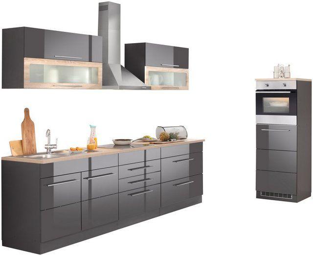 HELD MÖBEL Küchenzeile »Toledo«, mit EGeräten, Breite 100