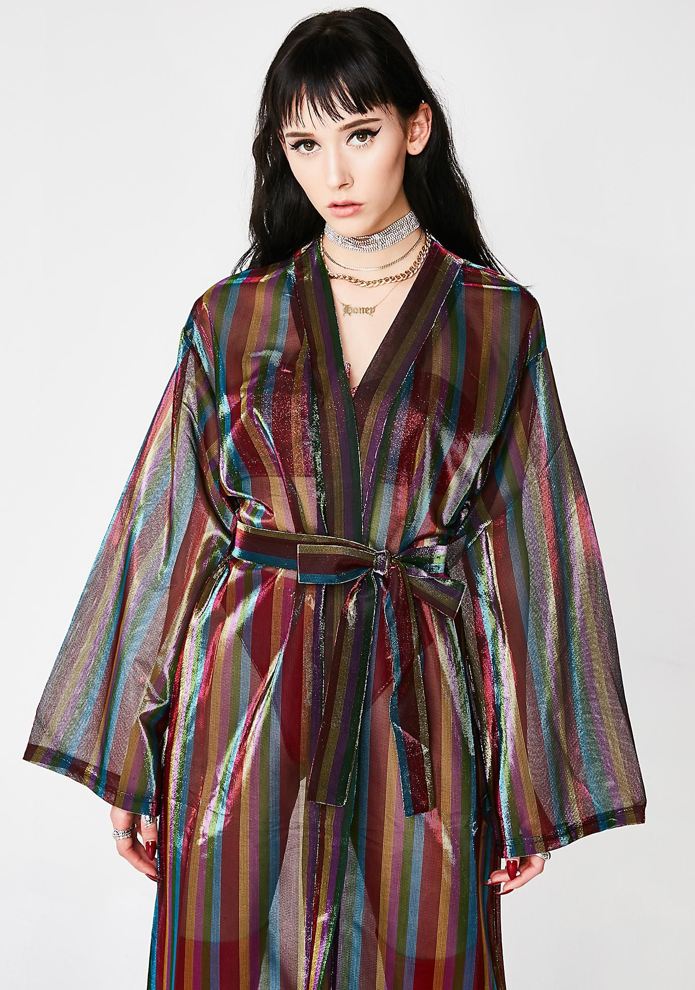 4df514853428d The Wizard's Mistress Sheer Kimono | coachella | Sequin maxi, Kimono ...
