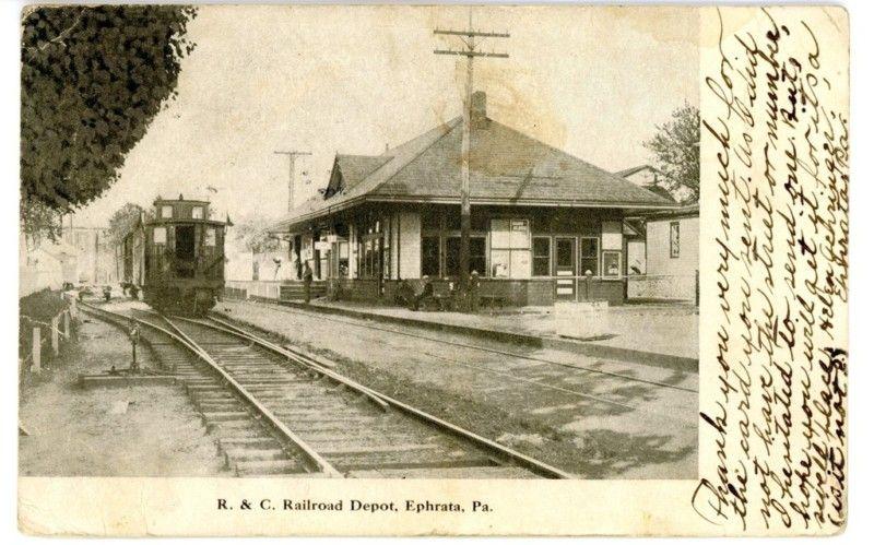 Ephrata Pennsylvania Railroad Station Railroad Station Pennsylvania Railroad Old Trains