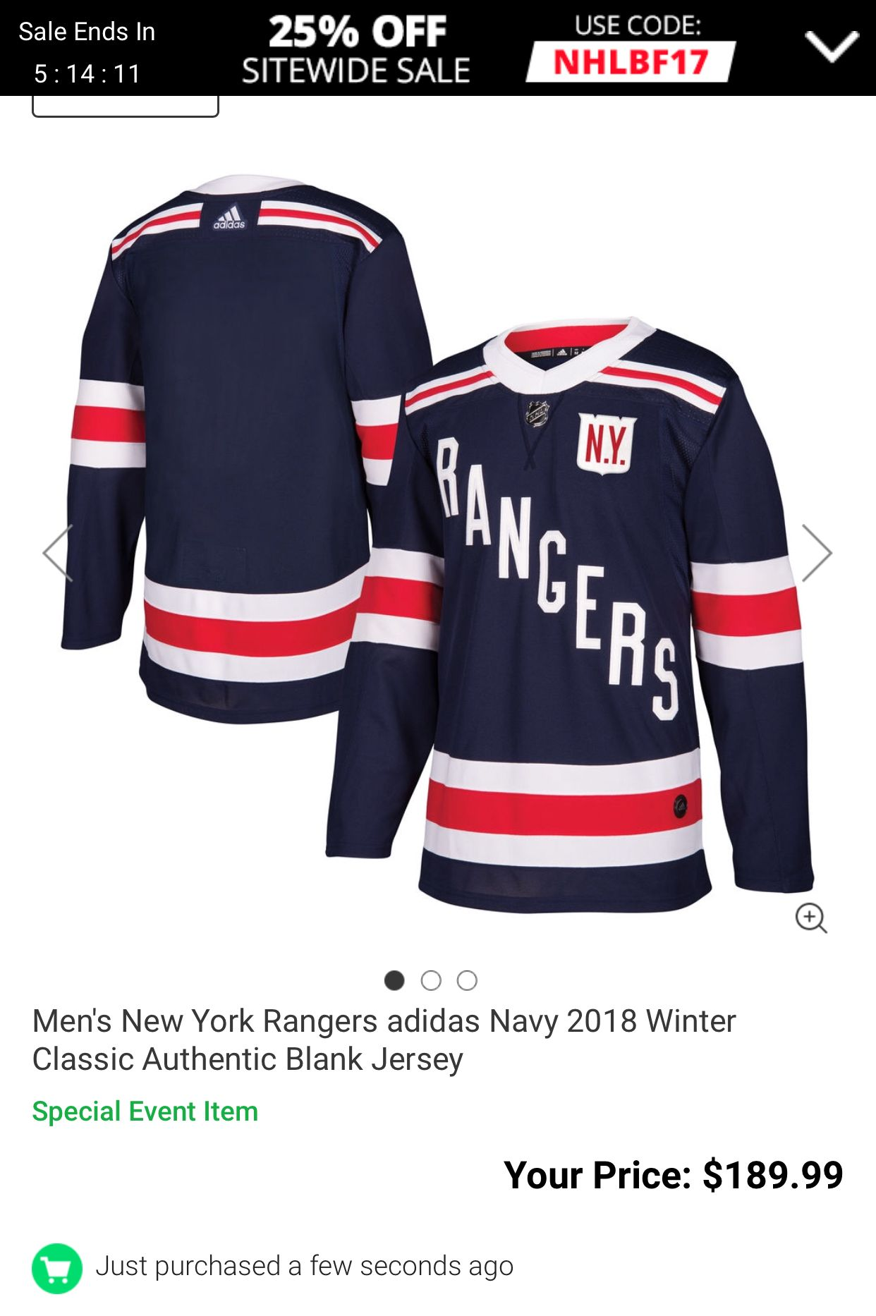 Men s New York Rangers adidas Navy 2018 Winter Classic Authentic Blank  Jersey - Shop.NHL.com e48fcc3e2dd