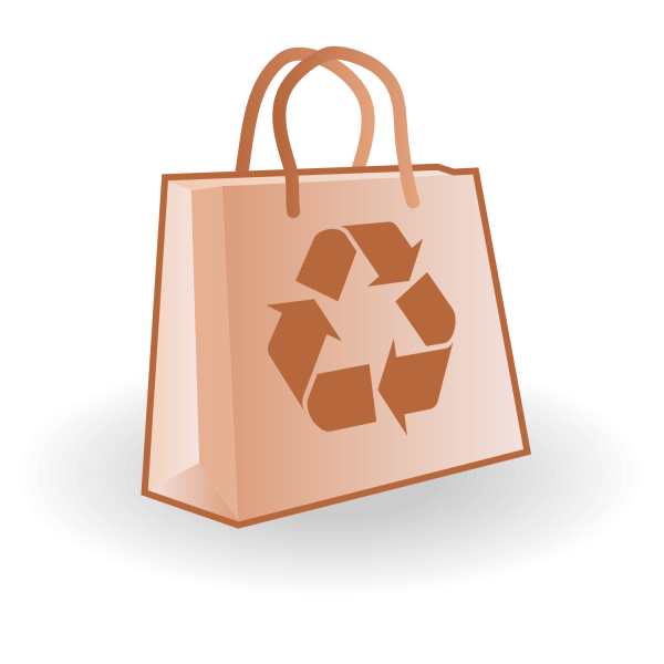 Paper Bag Vector Free Recycle Logo Free Vector Illustration