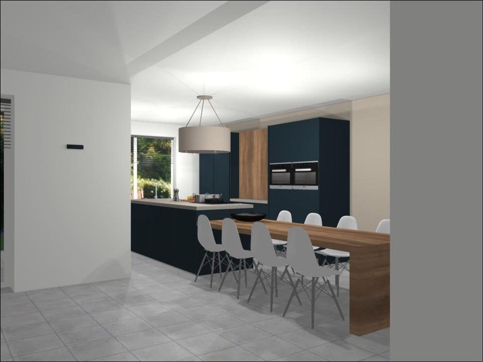 Wildhagen 3d ontwerp van een zwarte design keuken met for 3d ontwerp keuken