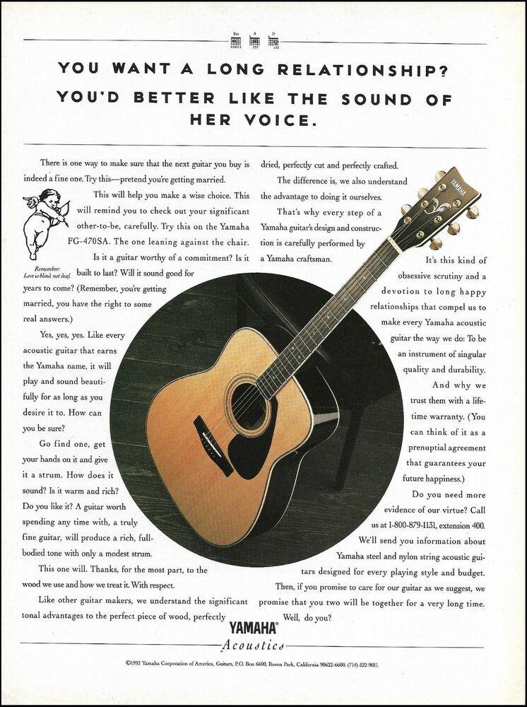 Yamaha Fg 470sa Acoustic Guitar 1992 Advertisement 8 X 11 Ad Print Yamaha Acoustic Guitar Yamaha Fg Fender Acoustic Guitar