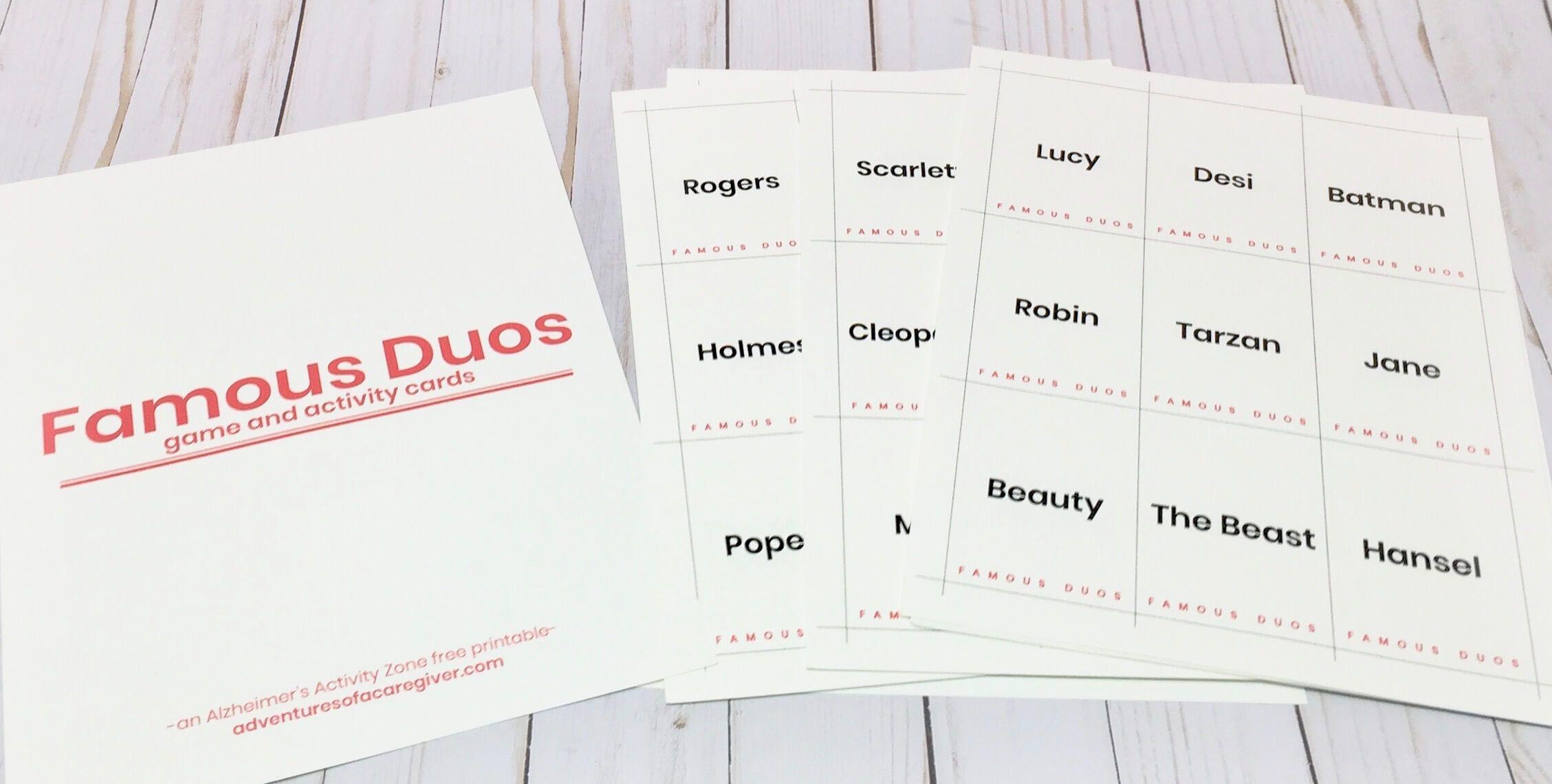 Famous Duos Free Printable