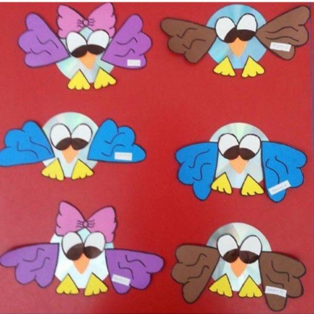 Delightful Cd Craft Ideas For Kids Part - 9: Cd Owl Craft