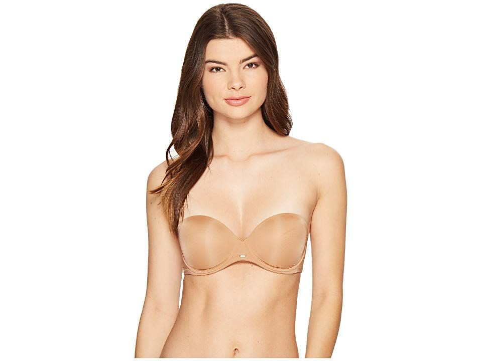20faa47742e Calvin Klein Underwear Naked Glamour Strapless Push-Up Bra F3493 (Bronzed) Women s  Bra. A strapless push-up bra that s undetectable under clothes but still ...