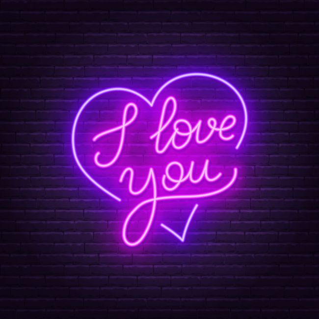 I Love You In Heart Led Neon Sign Neon Signs Neon Led Neon Signs
