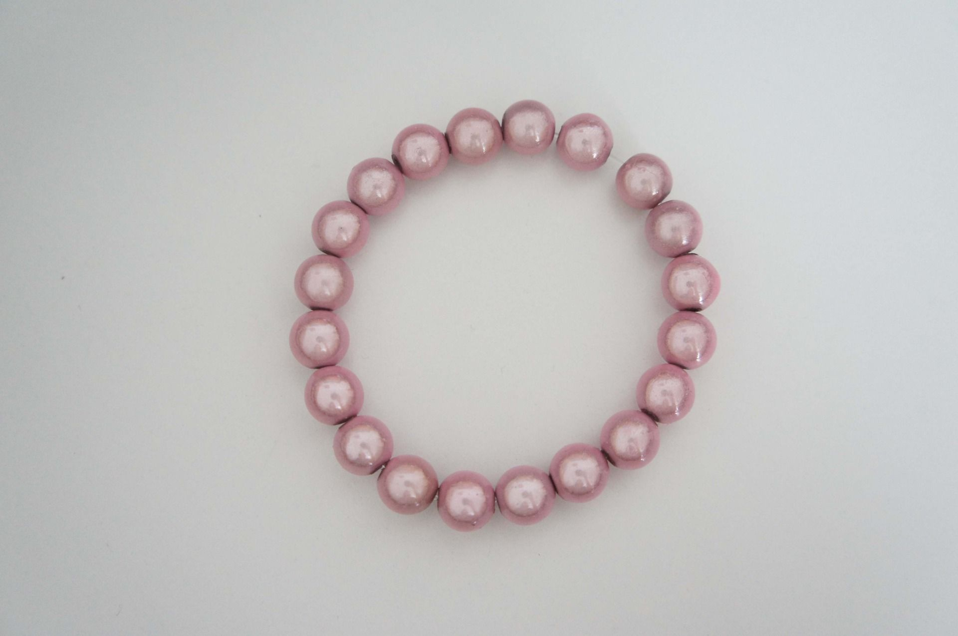 collier perle rose pale