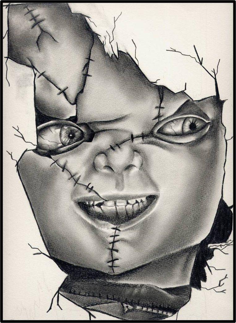 Chucky Tattoo Drawing : chucky, tattoo, drawing, Chucky, Tattoo,, Horror, Movie, Tattoos,, Scary, Drawings