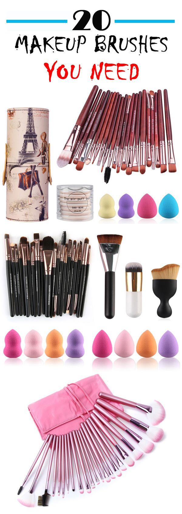 20 Pcs Makeup Brushes Set Makeup brushes, Pretty makeup