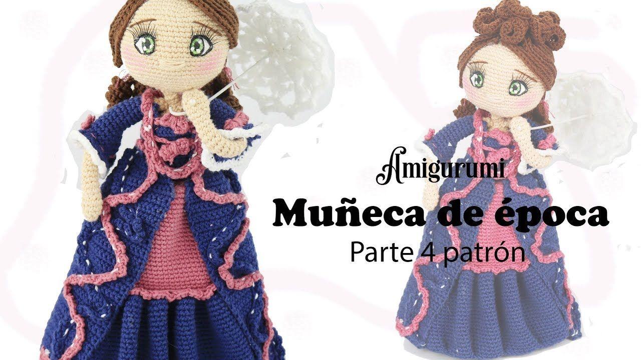 Amigurumi muñeca de época, parte 4/5 patrón gratis - YouTube ...