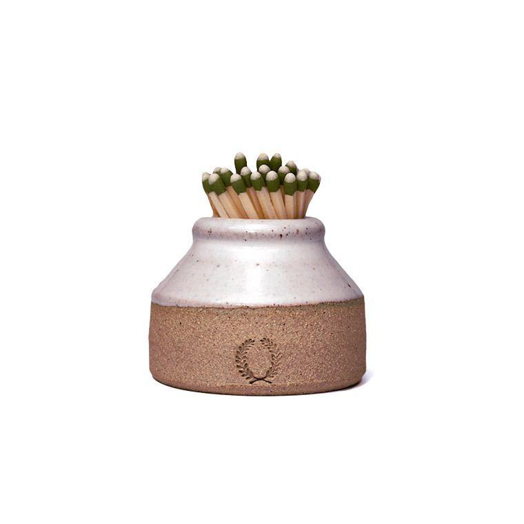 Milk Bottle Match Striker Farmhouse Pottery Pottery