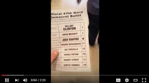 PROBLEMS INSIDE PA POLLING STATION #Philadelphia Democratic Primary #SuperTuesday #FRAUD