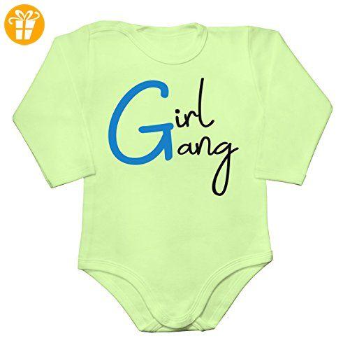 Girl Gang Baby Long Sleeve Romper Bodysuit Extra Small - Baby bodys baby einteiler baby stampler (*Partner-Link)