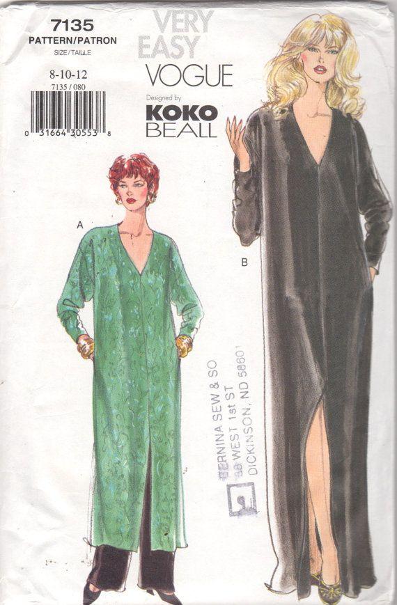 Vogue 7135 Misses A Line Caftan Straight Leg Pants by mbchills ...