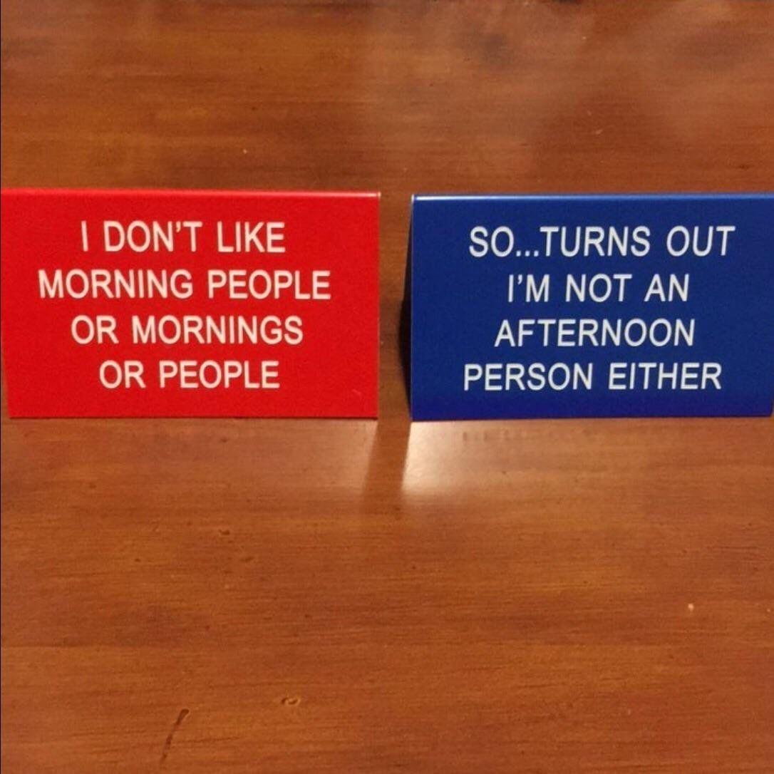My Desk Signs Help Keep Minimal Office Conversations