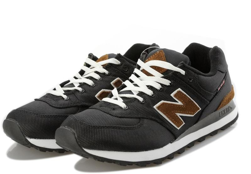 mens new balance black 574 trainers sale