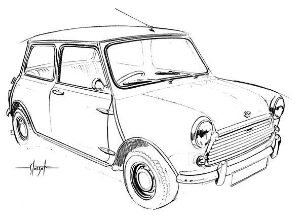 Mini Cooper Draw Colorize By Computer Love Mini Morris