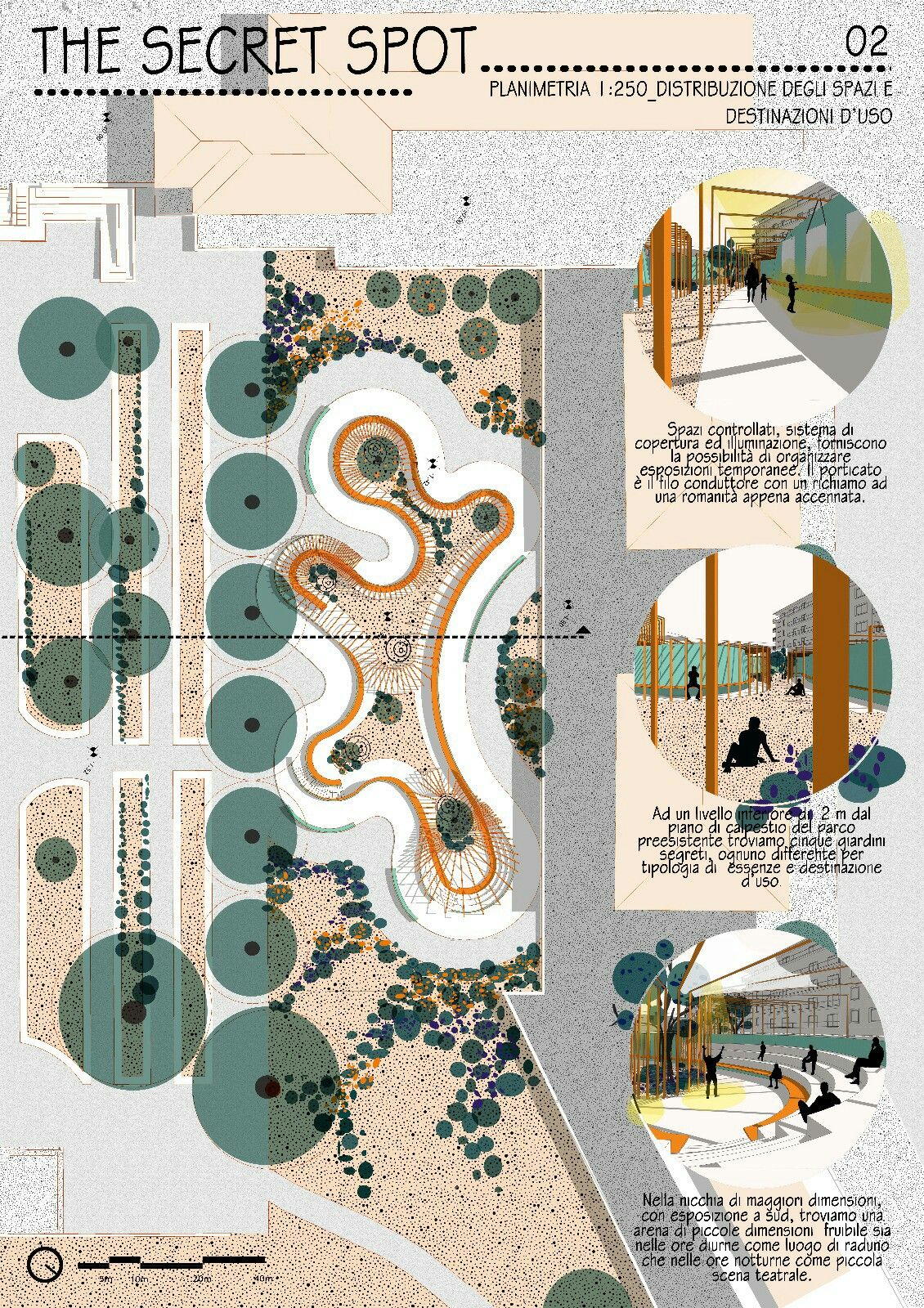 Landscape Architecture Garden Design Public Square Competition For A In The Main Of Pomezia Italy