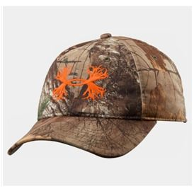 Underarmour - Men s UA Camo Antler Logo Cap - Orange Logo  4e777a9896b