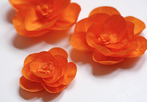 Make flowers from crepe paper how about orange paper crafts make flowers from crepe paper how about orange mightylinksfo