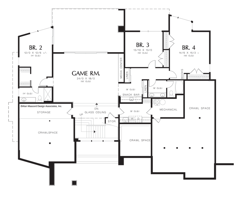 Image For Norcutt Contemporary Plan With A Glass Floor Lower Floor Plan Contemporary House Plans Modern Style House Plans Modern Floor Plans
