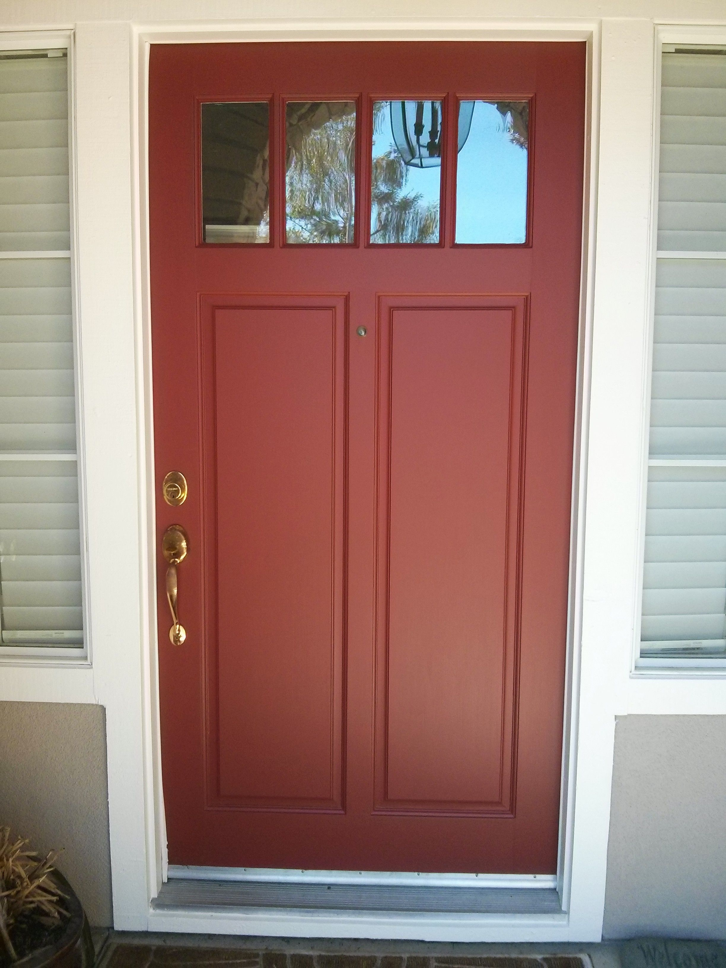 Sequoia Redwood from Kelly Moore in satin ... super nice door painted by MoonDance Painting. & Sequoia Redwood from Kelly Moore in satin ... super nice door ...