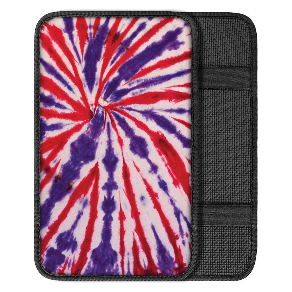 Purple And Red Spider Tie Dye Print Car Center Console Cover Gallery