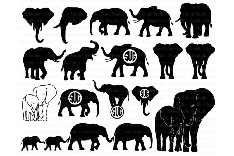Download Free Elephants SVG, Elephant family svg, Elephant SVG ...