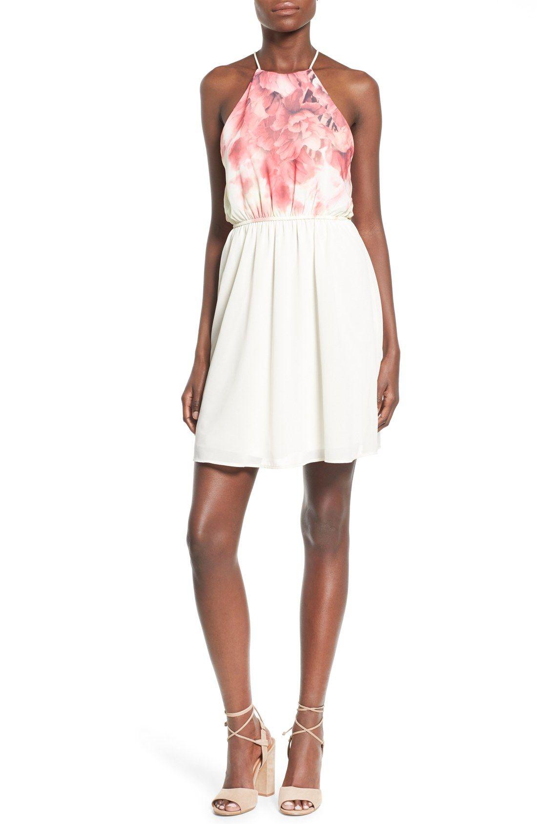 00d2cbee4814 jella c. Floral Print Halter Skater Dress | my style | Dresses ...
