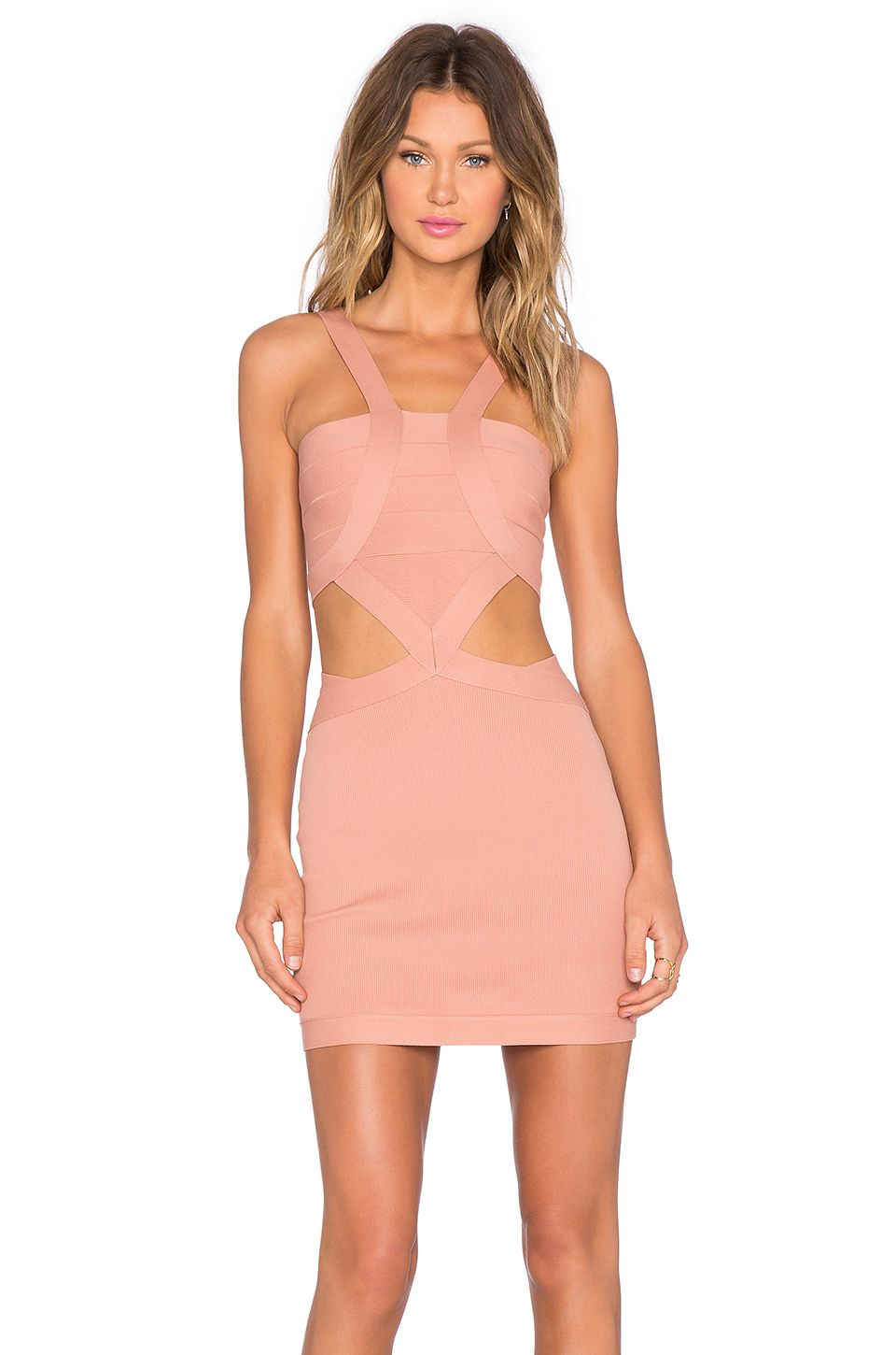 f6215b6ca70 NBD x REVOLVE My Confessions Bodycon Dress in Blush