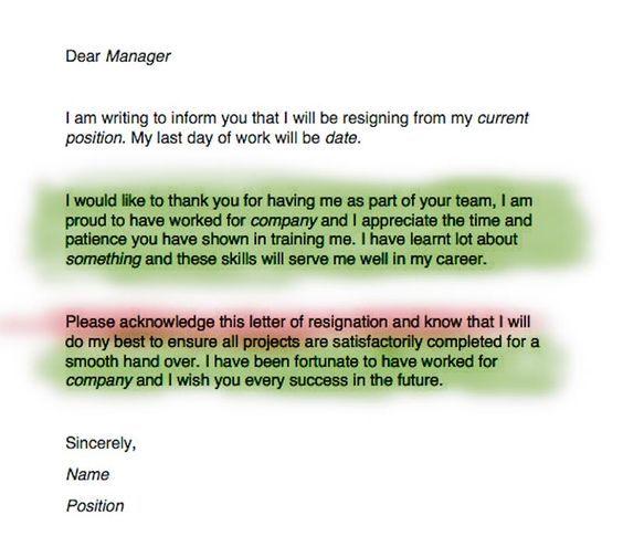 Write A Resignation Letter  Resignation Letter Resignation