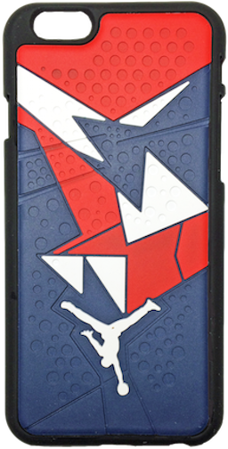 "Nike Jordan 7 VII Blue Red White ""Olympic"" iPhone 6/6s + Plus Case"