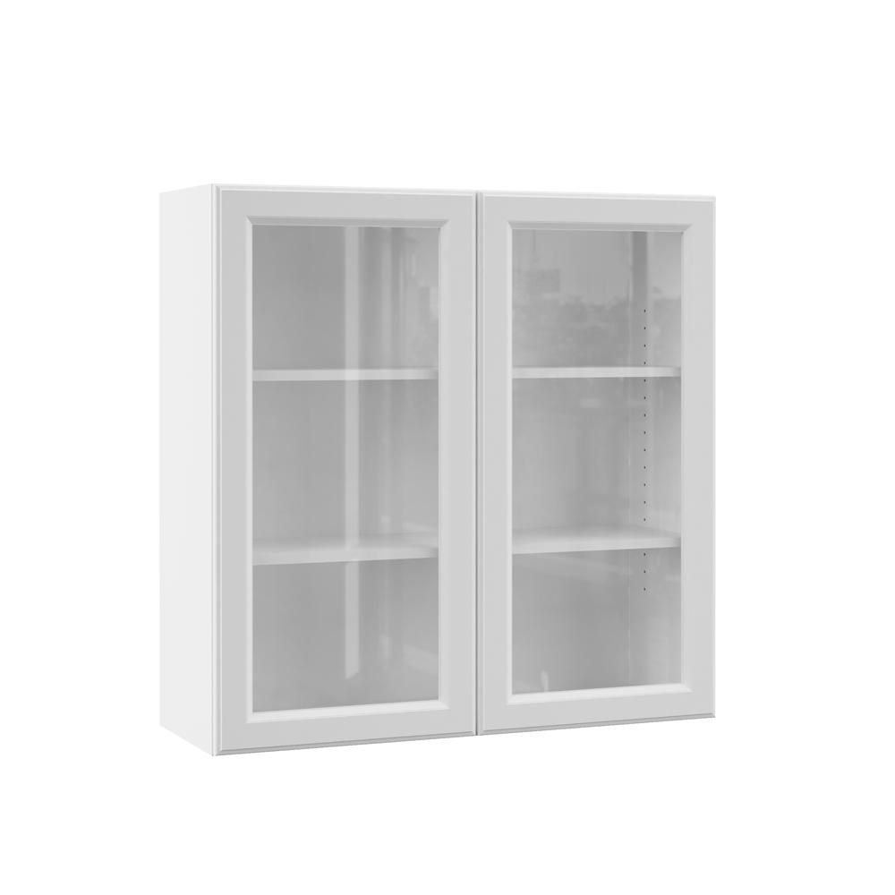 Elgin Assembled 36x36x12 In Wall Kitchen Cabinet With Glass Door In White Glass Kitchen Cabinet Doors Glass Cabinet Doors Kitchen Wall Cabinets