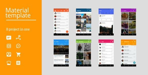 android studio templates Android Material UI Template 3.0 by ...