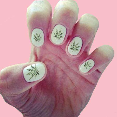 Save Of 420 Nail Decals Wraps Art Pot Leaf Stoner On Wanelo