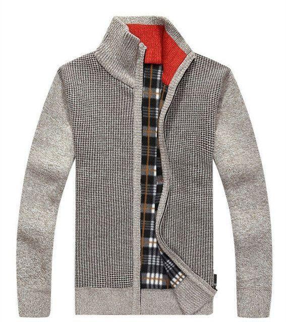 Speed Hiker Cardigan Sweaters Men Thicken Knitwear cheap Stand Collar Wool  Velvet Inside 6 Colors Warm Clothing Size 3XL SL-607 f17b05d5cfba