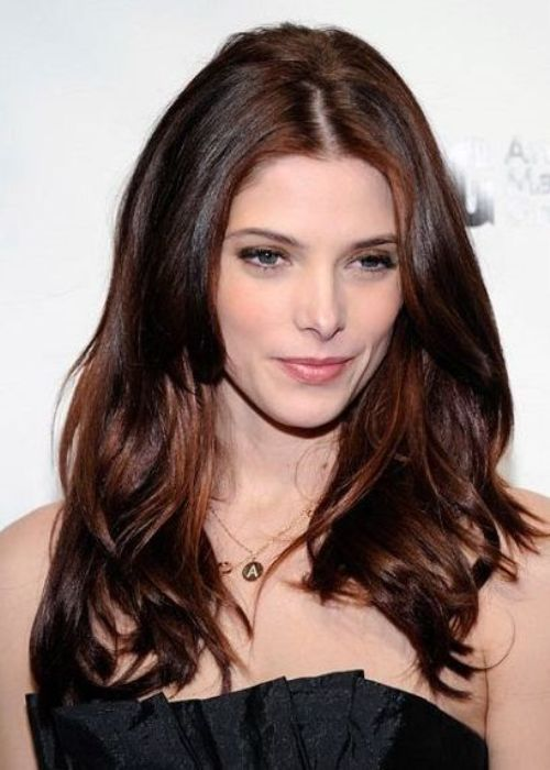 Fashionable Celebrity Hair Color Ideas Hairstyle Looks For - Hairstyles with dark brown and red