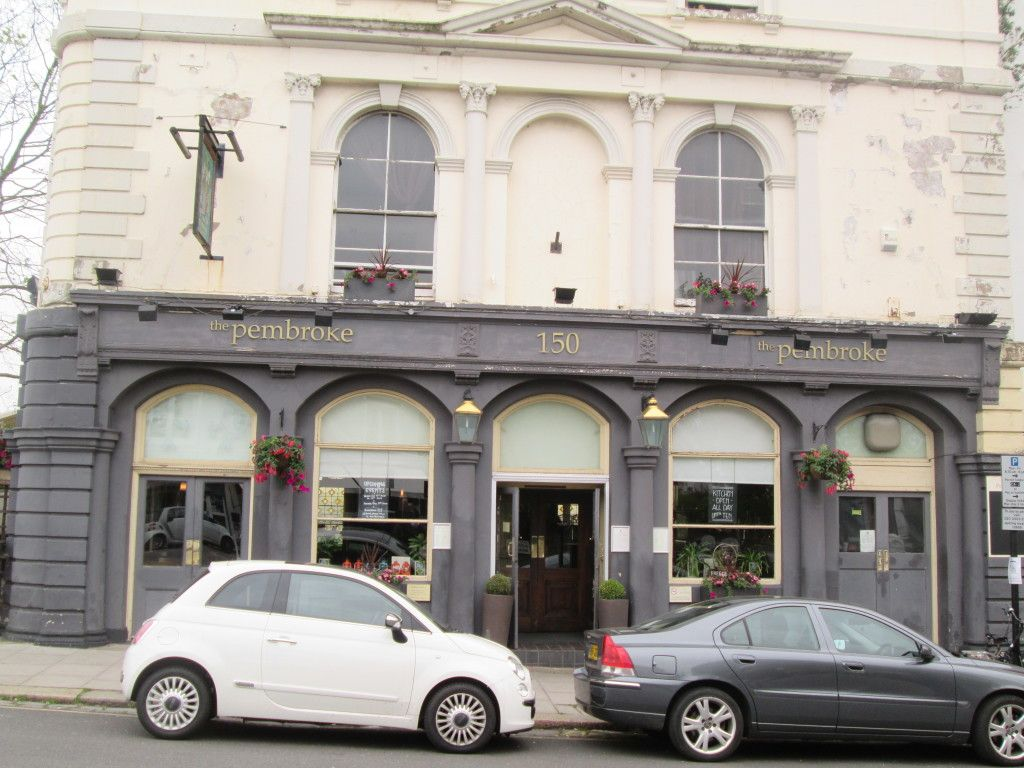 The Pembroke - Oasis would often drink at this pub, as Creation Records was located down the road. Liam Gallagher, singer of Oasis, was arrested outside here in October 1998 after an altercation with paparazzi