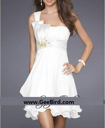For the short bridal gown wedding, the short bridesmaid dress!
