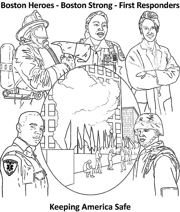 Keeping America Safe Patriots Day Coloring Pages Best Place To Color In 2021 Coloring Pages Patriots Day Patriots