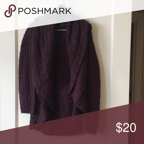 Plum cardigan Size large apartment 9. Apt. 9 Sweaters ...