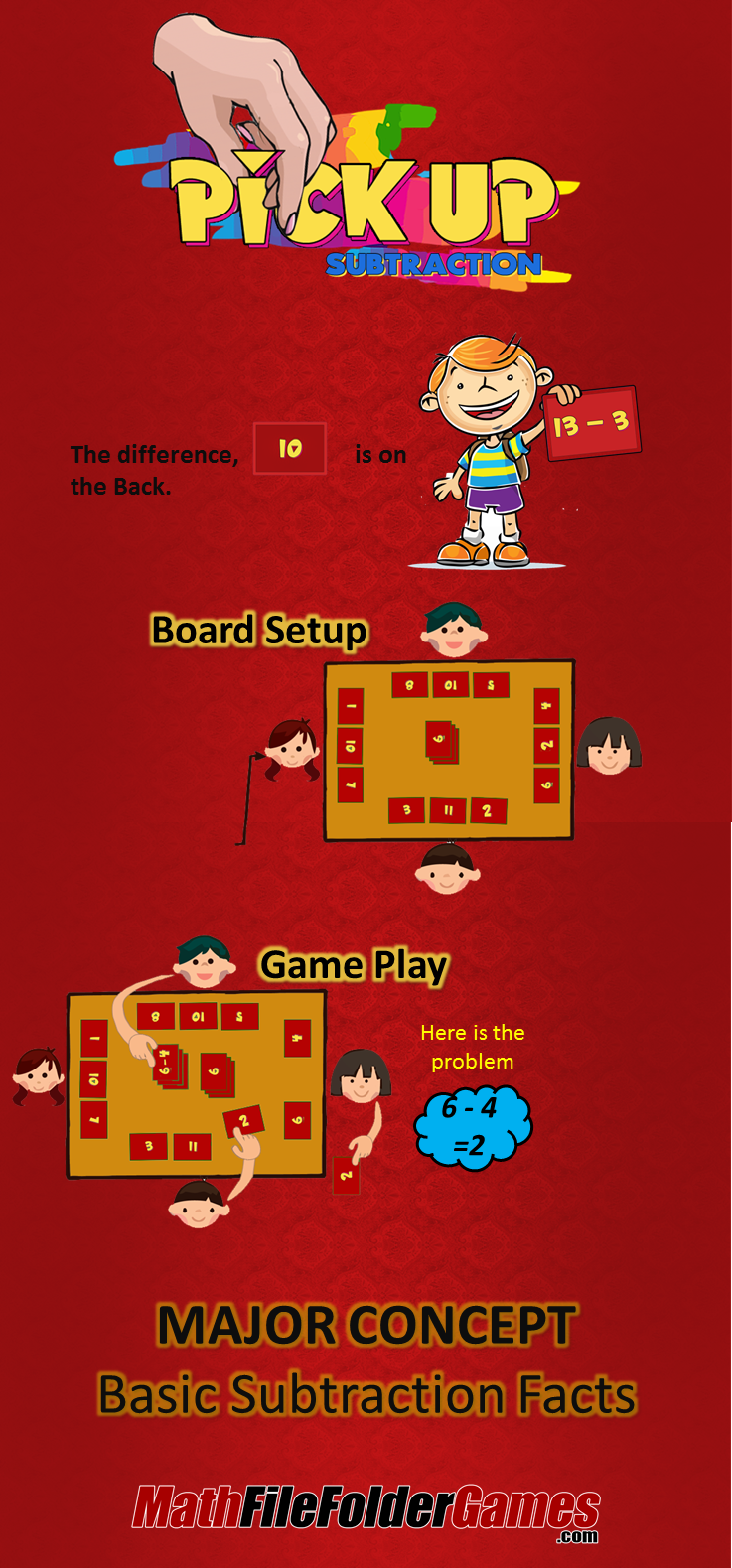 PickUp Subtraction Game Students will practice a fun
