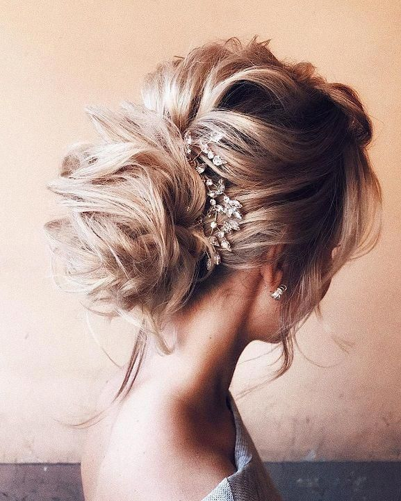 Elegant Wedding Hairstyle Idea: Elegant Chic Bun With Volume On Top,mother Of The Bride