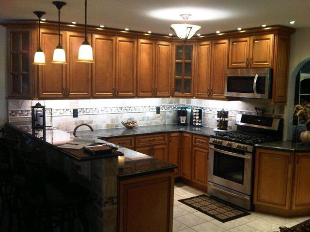 Kitchen Cabinets Light. Light Brown Kitchen Cabinets From Cabinet Lights E