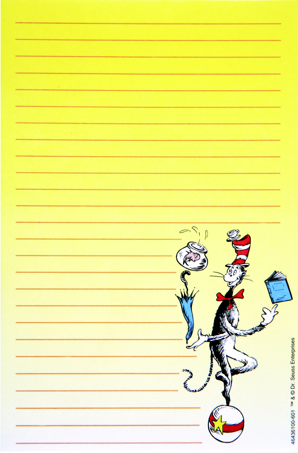 Dr Seuss Cat in the Hat Notepad, Early Childhood, 4 x 6 Inches