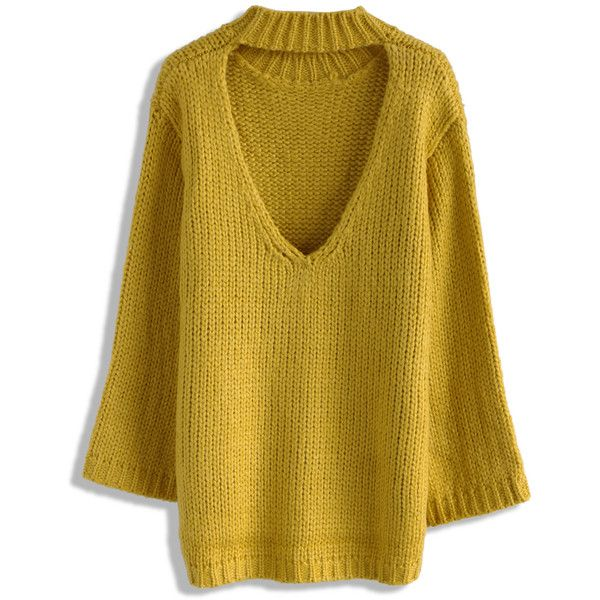 Chicwish Glamour On Back Sweater in Mustard ($51) ❤ liked on Polyvore featuring tops, sweaters, yellow, mustard yellow top, mustard top, mustard sweater, yellow top and mustard yellow sweater