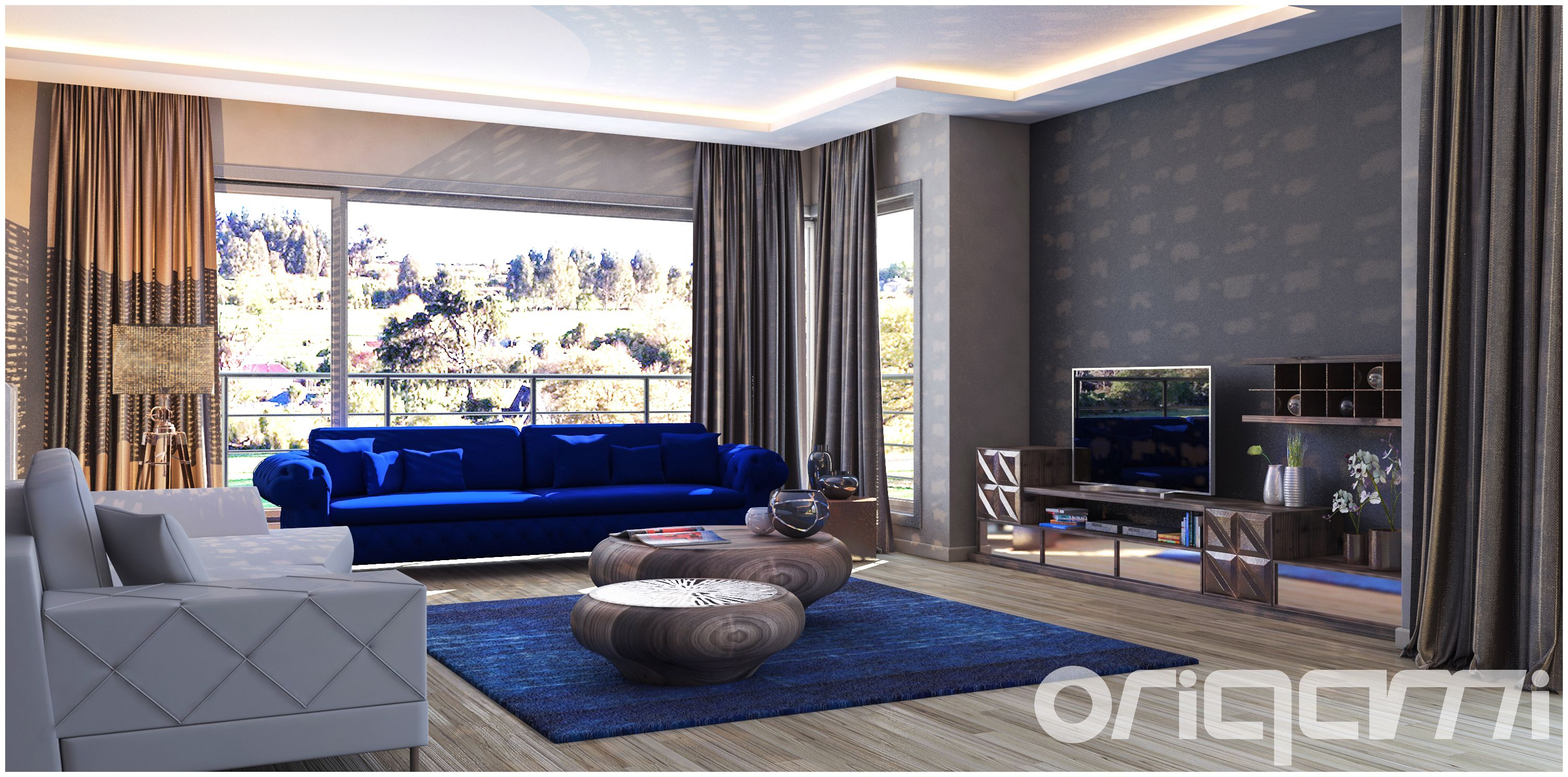 Royal Blue Bedroom Dream Living Rooms Luxurious Bedrooms