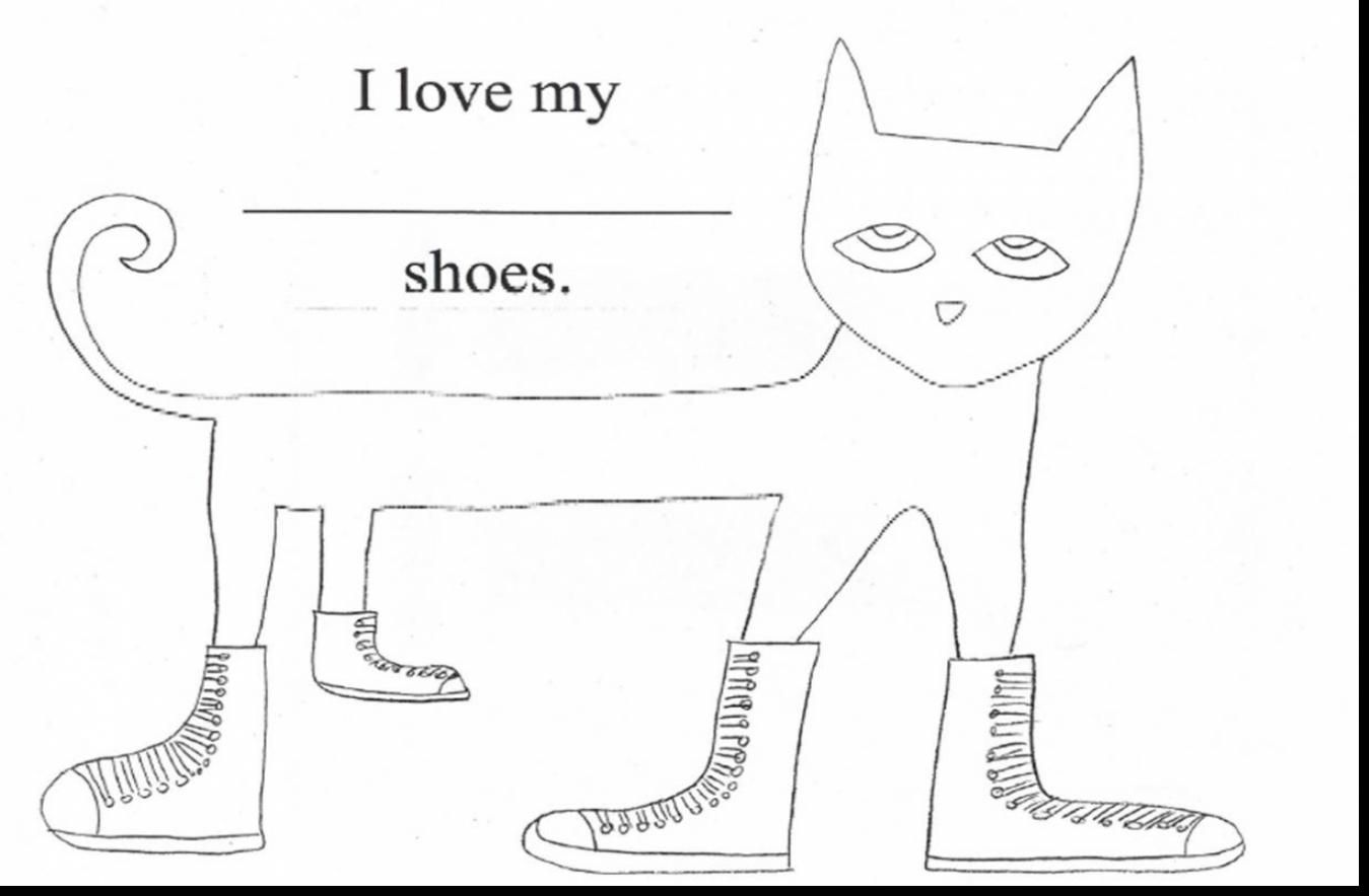 Fantastic Love My White Shoes Pete The Cat Printables With Pete